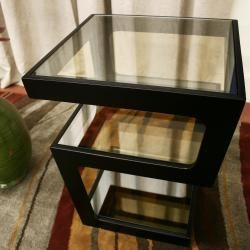 Clara Modern Tall Black 3 tiered End Table