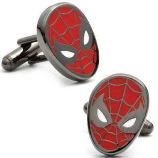 Spider Man Mask Cufflinks   Marvel Comics Formal Wear