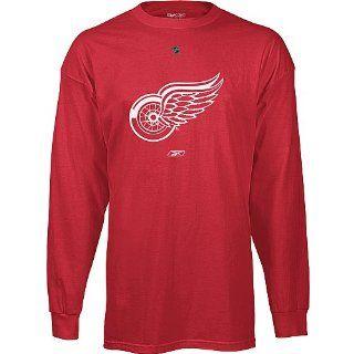 Reebok Detroit Redwings Primary Logo Long Sleeve T Shirt