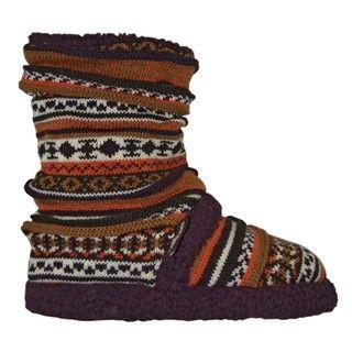 Muk Luks Womens Fairisle Scrunch Boots