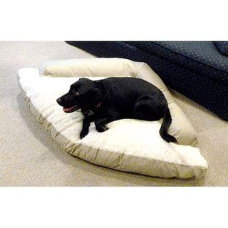 Hidden Valley Extra large Khaki/Taupe Cotton/Fleece Corner Dog Bed