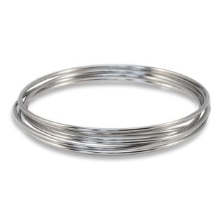 Stainless Steel Bangle Bracelets (Set of 7)