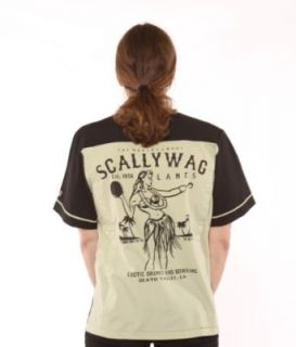 Lucky 13 Scallywag Hula Girl Bowling Shirt Retro Mens