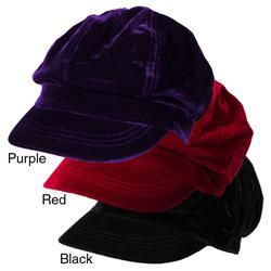 Journee Collection Womens Velvet Newsboy Hat