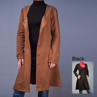 AtoZ Womens Deep Scoop Coat