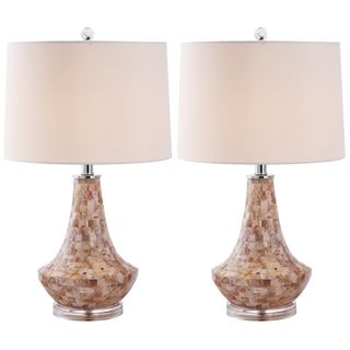 Indoor 1 light Kobe Sea Shell Table Lamps (Set of 2)
