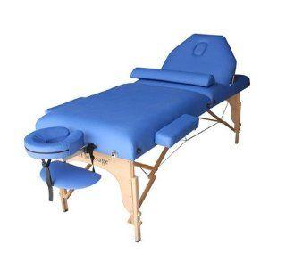 Blue 77 Long 30 Wide 4 Pad Reiki Portable Massage Table