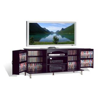 Broadway Black Large Flat Panel Plasma / LCD TV Console with Media