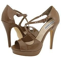 Steve Madden Gizella Taupe Patent Sandals
