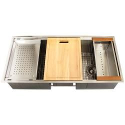 Ticor Royal Stainless Steel 16 gauge Triple Bowl Undermount Kitchen