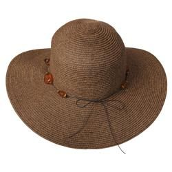 Adi Designs Womens 4 inch Flat Brim Paper Braid Sun Hat