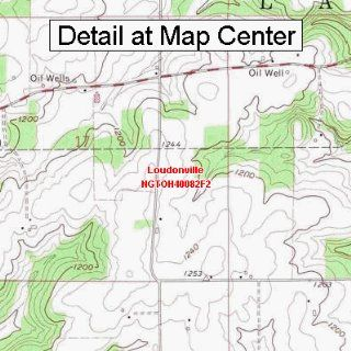 USGS Topographic Quadrangle Map   Loudonville, Ohio