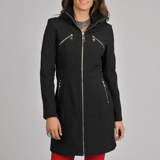 Miss Sixty Womens Black Long Jacket