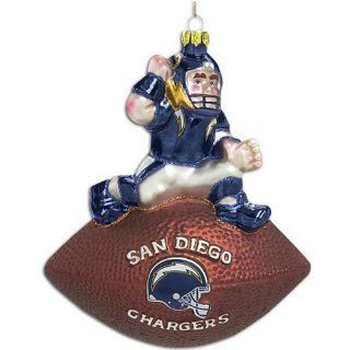 Chargers Scottish Christmas Blown Glass Mascot Ornament