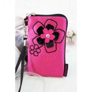 Pink Polka Dot Daisy Love Cell Phone Camera Bag Clothing