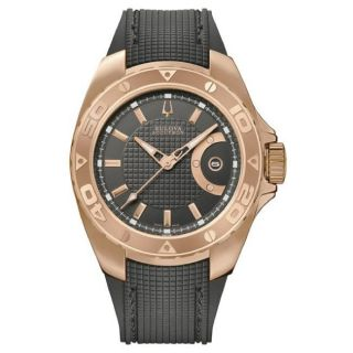 Bulova Accutron Mens Curacao Rose gold Plated Watch