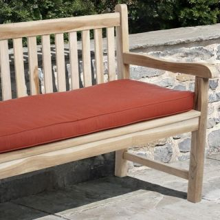 Clara 60 inch Outdoor Textured Red Bench Cushion with Sunbrella