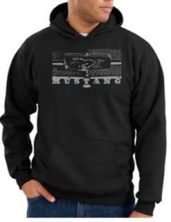 Ford Mustang Hoodie   Legend Honeycomb Grille Adult Hooded