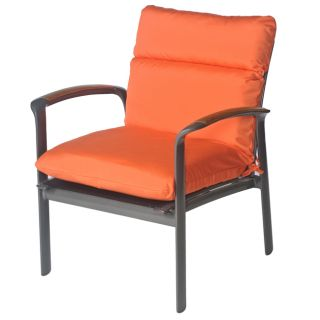 Sara Outdoor Club Chair Cushion in Bright Orange Sunbrella Fabric