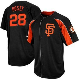 Buster Posey San Francisco Giants Black Double Play Jersey