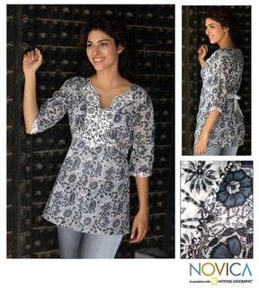Womens Cotton Summer Song Blouse (India)