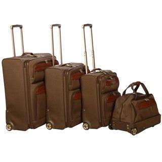 Tommy Bahama Paradise Island Olive 4 piece Luggage Set