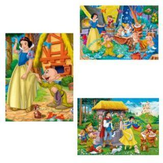 CLEMENTONI   Puzzle 3 x 48 pcs   Blanche Neige   Achat / Vente PUZZLE