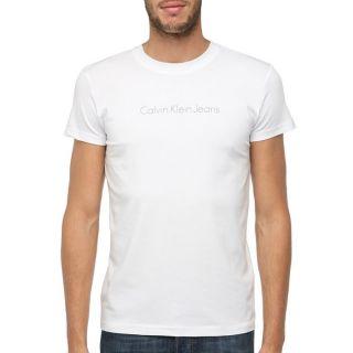 CALVIN KLEIN JEANS T Shirt H Blanc Blanc   Achat / Vente T SHIRT