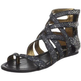 Cynthia Vincent Womens Harris Sandal,Black Stingray,6 M US Shoes
