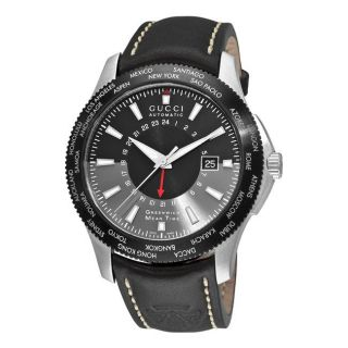 Gucci Mens G Timeless GMT Second Time Zone Automatic Watch
