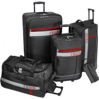 IZOD Luggage Metro 5 Piece Set, Black, Large Clothing