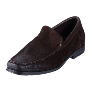 Rockport Mens FM Venetian Chocolate Suede Leather Loafers