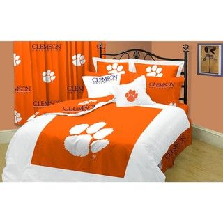 Clemson Tigers Twin XL size 10 piece Dorm Bed in a Bag with Sheet Set