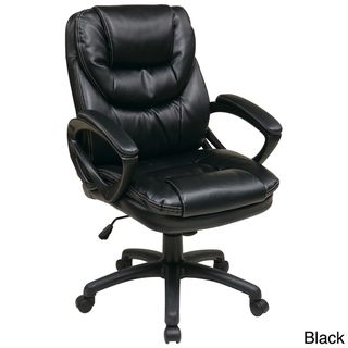 Office Star Products Work Smart Faux Leather High Back Chair