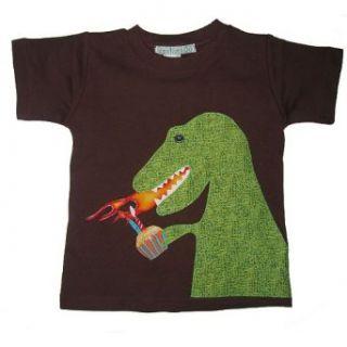 1st Birthday Dinosaur Dragon Short Sleeve Boys Shirt