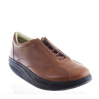 MBT Mens Volcano Brown Leather Oxfords 12.5M Shoes