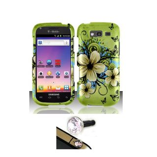 Samsung Galaxy S Blaze 4G Hawaii Flower Protector Case with Charm Plug
