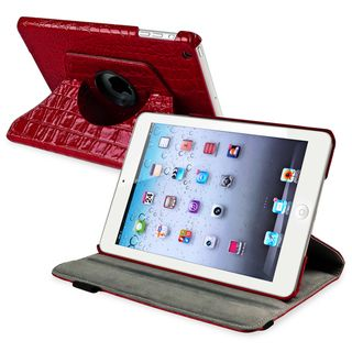 BasAcc Red 360 degree Swivel Leather Case for Apple® iPad Mini