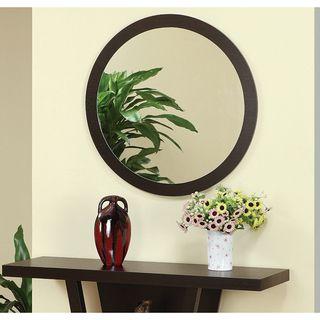Audrey Coffee Bean Round Mirror