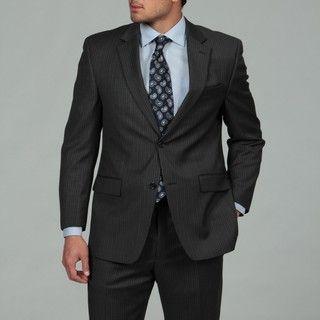 MICHAEL Michael Kors Mens Grey Stripe 2 button Wool Suit