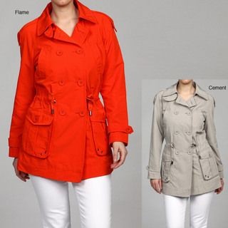 Kenneth Cole Womens Belted Trench Coat