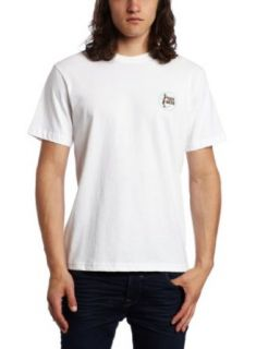 Toes on the Nose Mens Bullseye T Shirt, White, Small