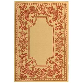 Safavieh Courtyard Red/ Natural Indoor Outdoor Rug