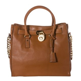 MICHAEL Michael Kors Hamilton Large Brown Leather Tote Bag