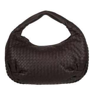 Bottega Veneta Dark Brown Leather Hobo Bag