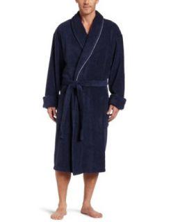 Tommy Bahama Mens Panel Back Robe, Indigo, Small/Medium