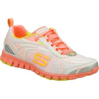 Womens Skechers EZ Flex Barbed Wire White/Orange