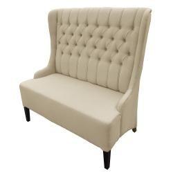 Vincent Beige Linen Loveseat Bench/ Chair Set