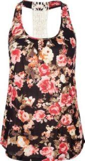 FULL TILT Floral Crochet Womens Tank Clothing