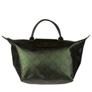 Longchamp LM Metallic Green Tote Bag